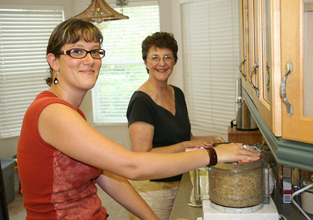 blueberry-jam-and-cake_jenn-and-mom-making-cake