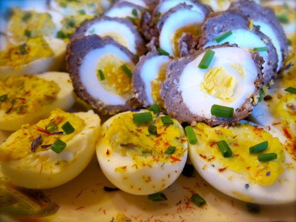 Deviled and Scotch Eggs for Ostara